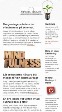 mindfulness nyhetsbrev