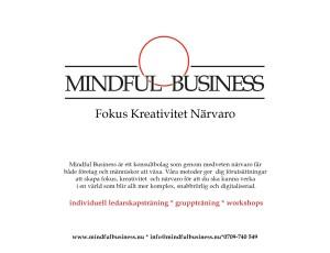 Individuellt träningsprogram för ledare baserat på mindfulness